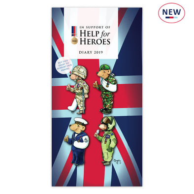 Help for Heroes 2019 Slimline Bear Diary