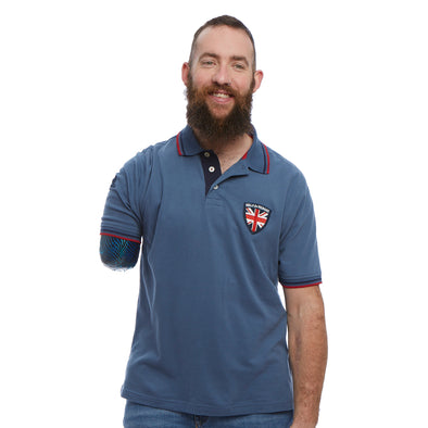 Help for Heroes Steel Blue Clayton Jersey Polo