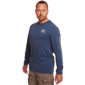 Steel Blue Long Sleeve Gleadell T-shirt