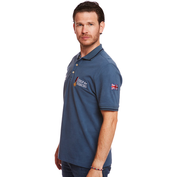 Help for Heroes Steel Blue Classic Polo