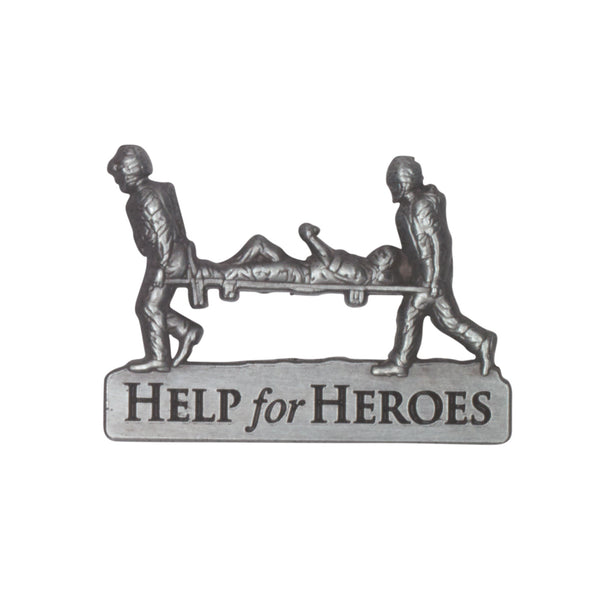 Help for Heroes Pewter Stretcher Bearer Lapel Pin