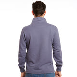 Help for Heroes Button Neck Sweatshirt Fossil Blue