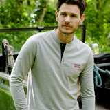 Help for Heroes Grey Marl Kingston Henley Long Sleeve T-shirt