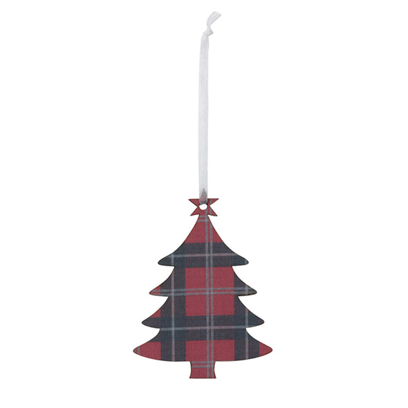 Tartan Tree Decoration