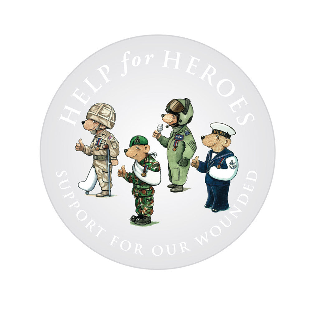 Help for Heroes Team Bear Car Stickers