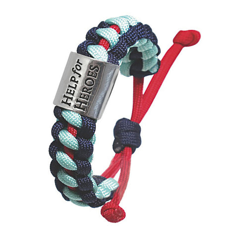 Help for Heroes Tri-Colour Cord Bracelet