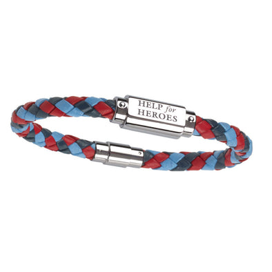 Help for Heroes Tri-Colour Leather ID Bracelet
