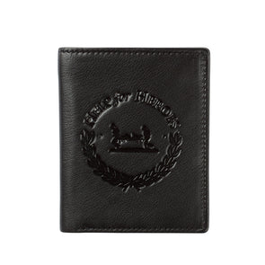Help for Heroes Black Leather Tri-fold Wallet with Crest