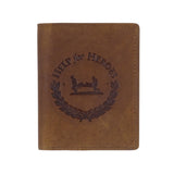 Help for Heroes Brown Leather Tri-fold Wallet with Crest