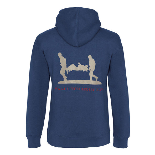 Help for Heroes Valour Hoody Petrol Blue reverse