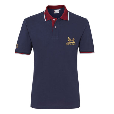 Navy Blue Tipped Wellington Polo