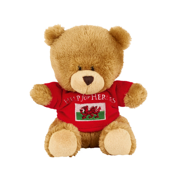 Help for Heroes Welsh Small Bear with T-shirt