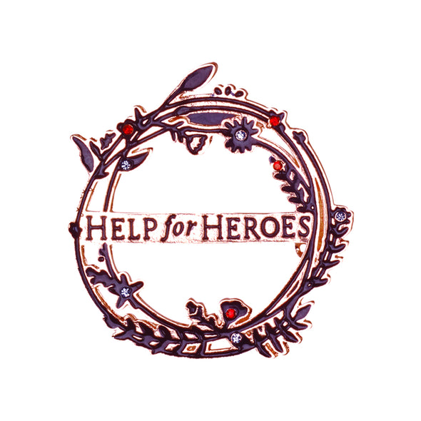 Help for Heroes Willow Wreath Brooch