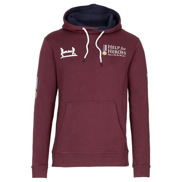 Help for Heroes Windsor Wine Heritage Pullover Hoody and If it Ain't Raining T-Shirt Set