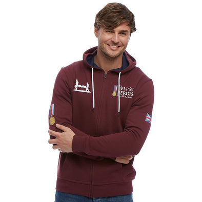 Help for Heroes Windsor Wine Heritage Zipped Hoody