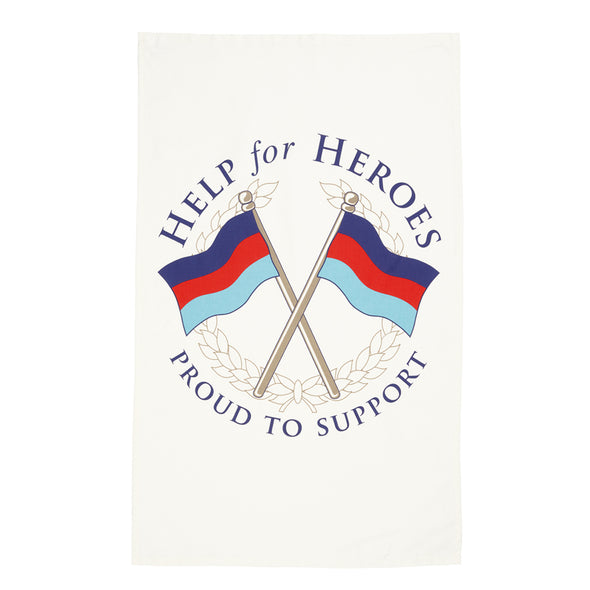 Help for Heroes Tri-colour Crossed Flags Tea towel