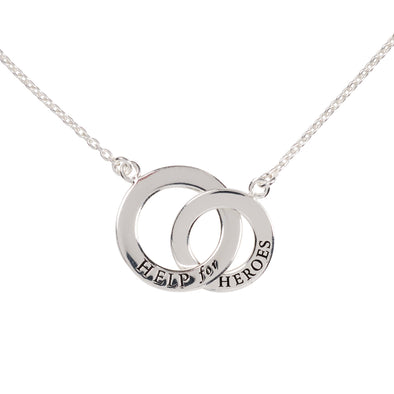 Help for Heroes Silver Linked Rings Necklace