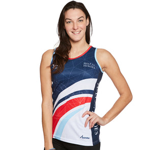 Help for Heroes Women's Swoosh Tri-Colour Running Vest