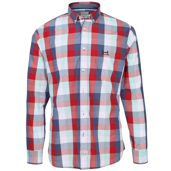 Help for Heroes Tri colour Moor Checked Shirt