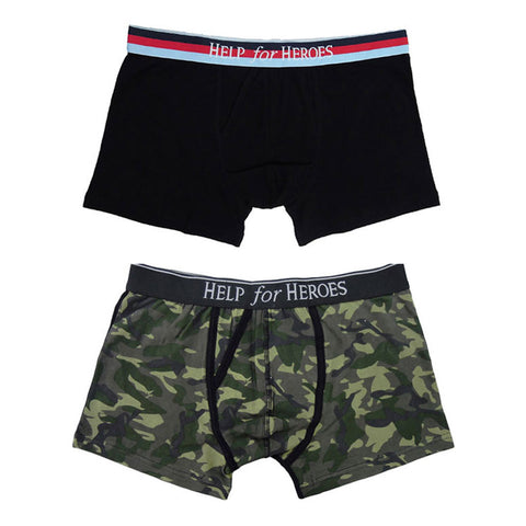 Help for Heroes Men's Black-Camo Trunks
