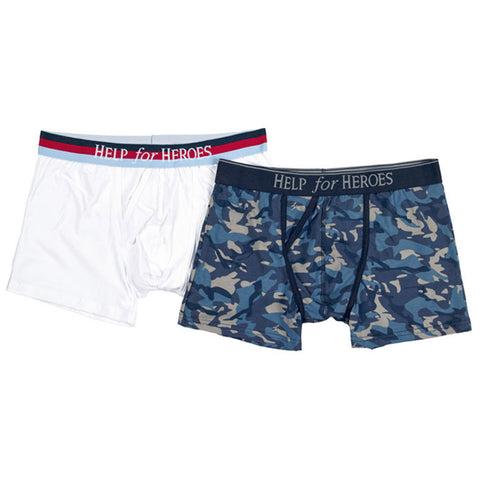 Help for Heroes Blue Camo Trunks 2 pack