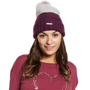 Help for Heroes Grape Knitted Bobble Hat