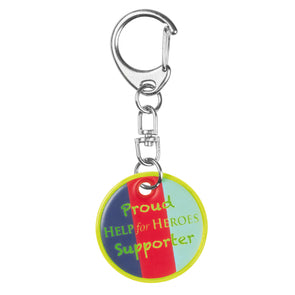 Help for Heroes Tri-colour Reflective Keyring
