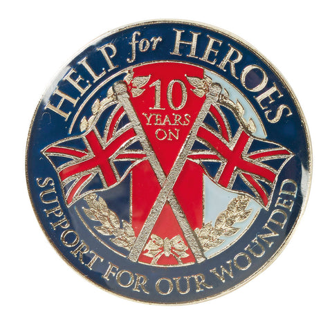 Help for Heroes Anniversary Lapel Pin