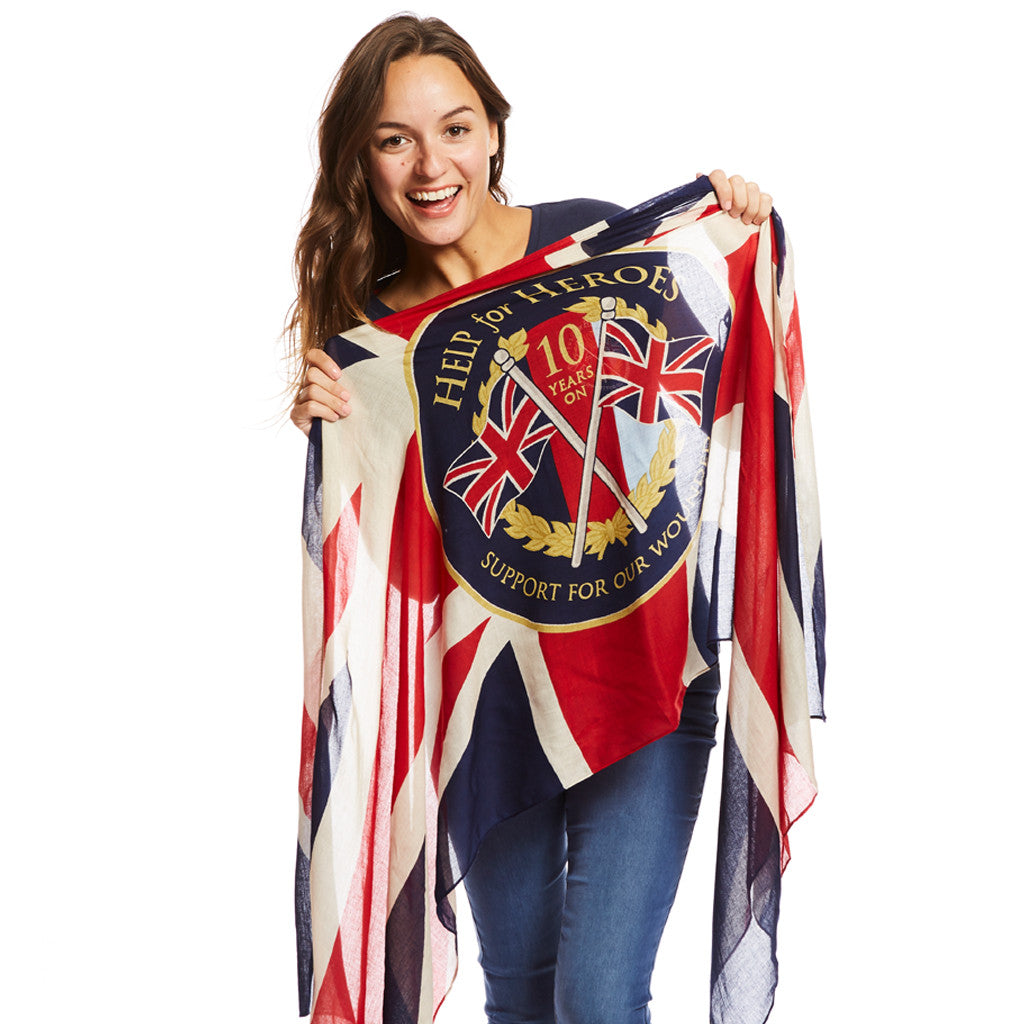 Help for Heroes 10th Anniversary Scarf