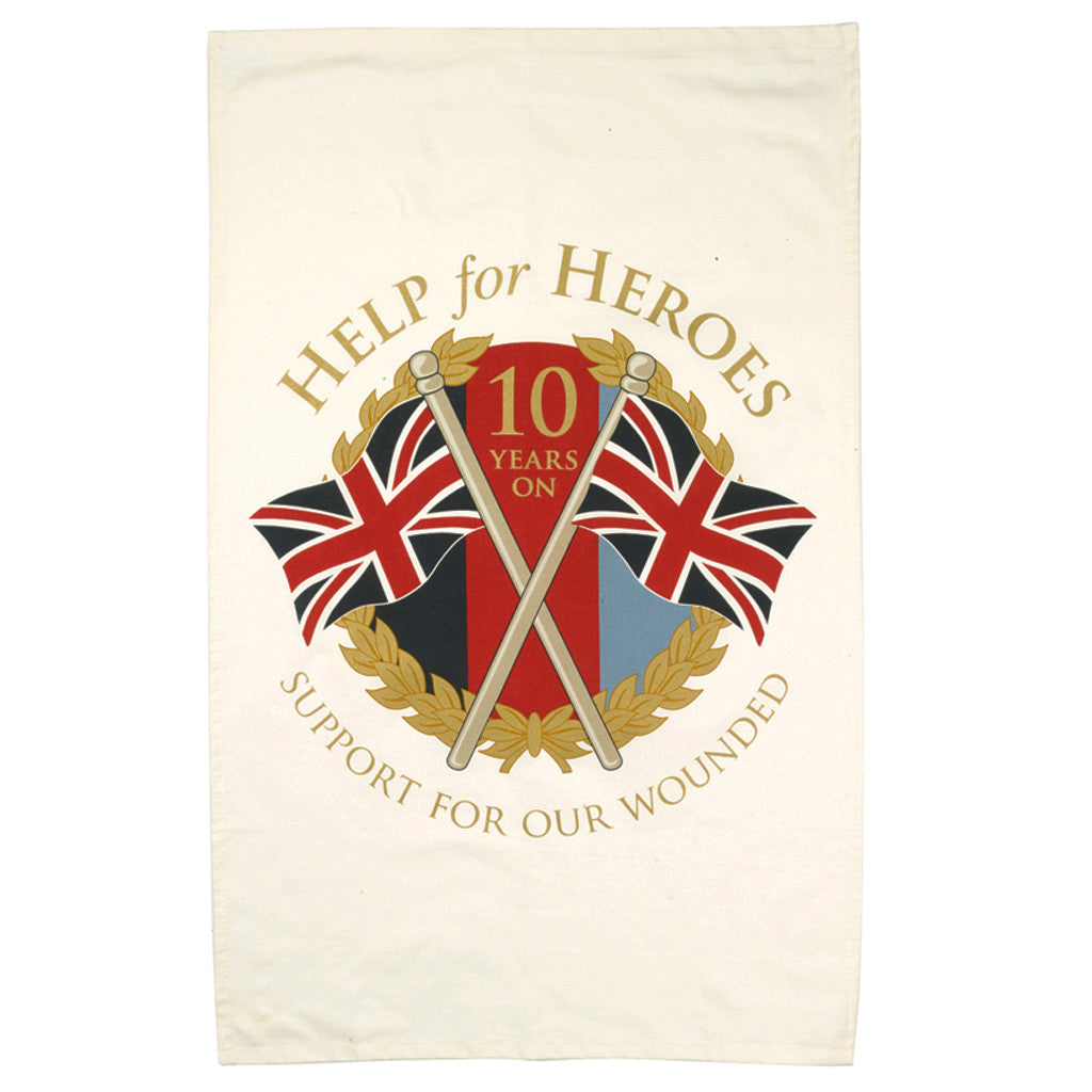 Help for Heroes 10th Anniversary Tea Towel