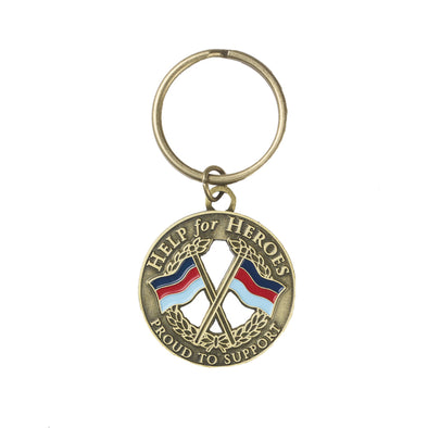 Help for Heroes Crossed Flags Crest Keyring