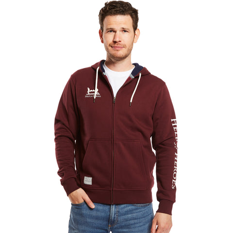 Help for Heroes Windsor Wine Catterick Hoody