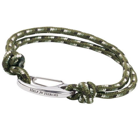 Help for Heroes Green Cord Bracelet