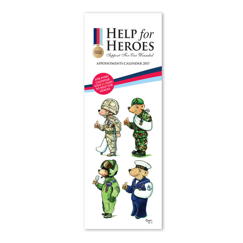 Help for Heroes Slimline Bear Calendar 2017