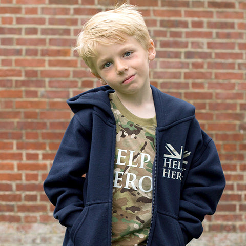 Help for Heroes Children's Navy Vigour Hoody