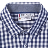 Help for Heroes Navy Gingham Check Shirt