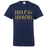 Help for Heroes Navy Blue Logo T-shirt