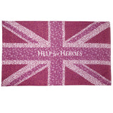 Help for Heroes pink union jack scarf