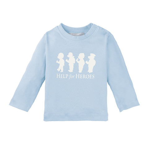 Help for Heroes Bears in a Row Long Sleeve T-shirt Blue