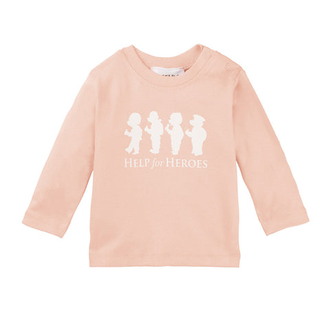 Help for Heroes Bears in a Row Long Sleeve T-shirt Pink