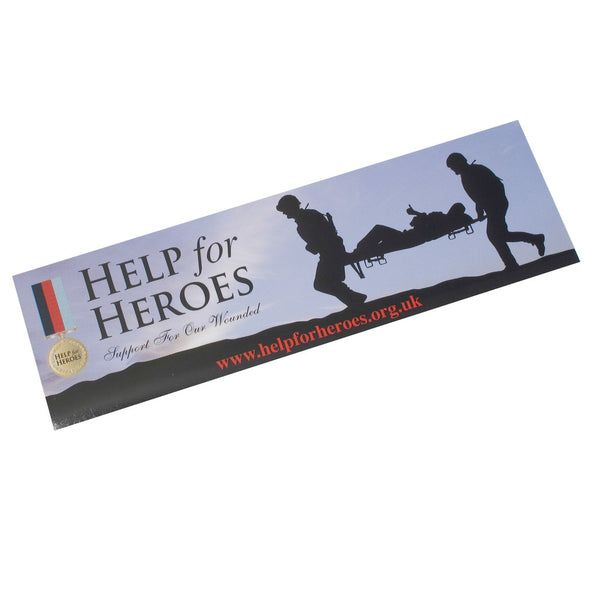Help for Heroes Stretcher Car Sticker