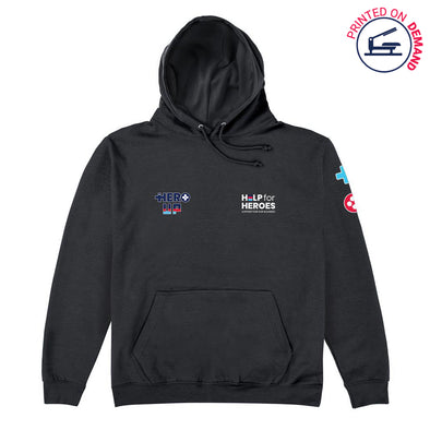 Help for Heroes Hero Up Gamer Black Hoody