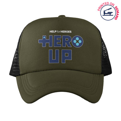 Help for Heroes Green Hero Up Trucker Baseball Cap