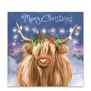 Help for Heroes Highland Cow Christmas Cards - Pack of 10