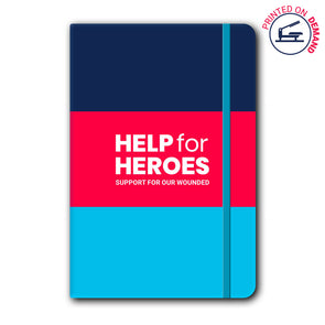 Help for Heroes Honour Tri Stripe Notebook
