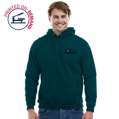 Jade and Navy Honour Pullover Hoody