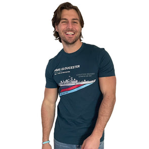 Help for Heroes Legion Blue Destroyer T-Shirt