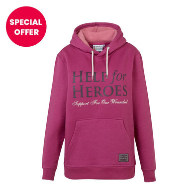 Help for Heroes Bright pink pull on Hoody