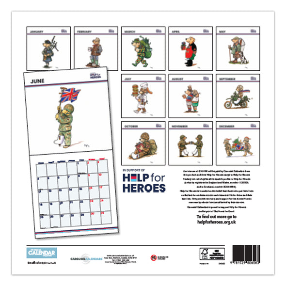 Help for Heroes 2021 Calendar Month to View