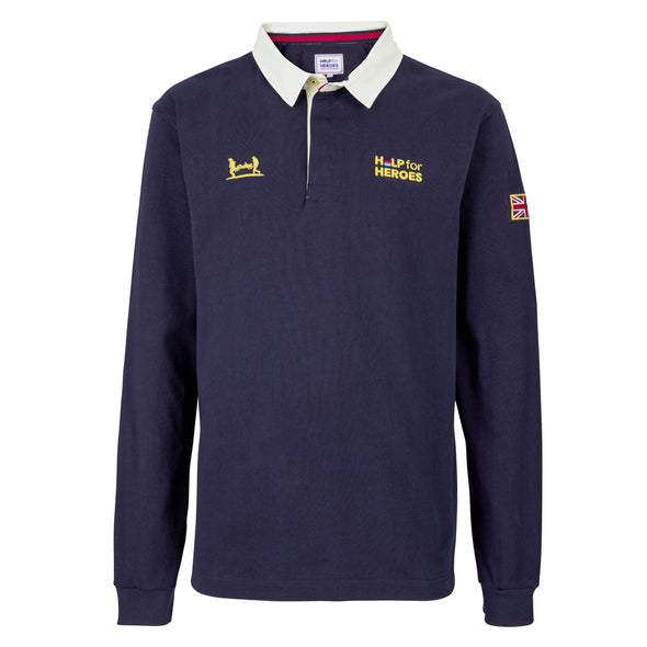 Help for Heroes Navy Heritage Rugby Shirt